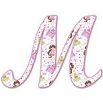 Princess Print Letter Decal - Custom Sized (Personalized)