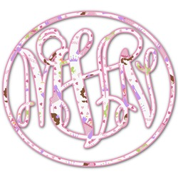 Princess Print Monogram Decal - Custom Sized (Personalized)