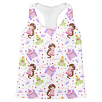 Princess Print Womens Racerback Tank Top (Personalized)