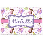 Princess Print Woven Mat (Personalized)
