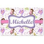 Princess Print Woven Mat (Personalized)
