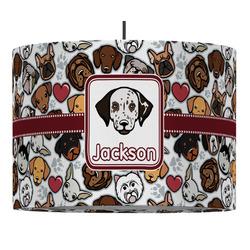 Dog Faces Drum Pendant Lamp (Personalized)