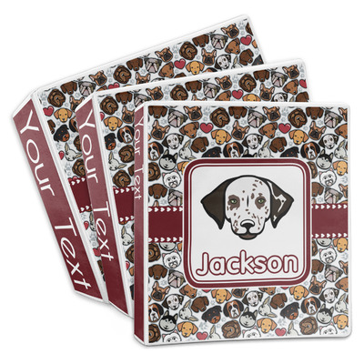 Dog Faces 3-Ring Binder (Personalized)