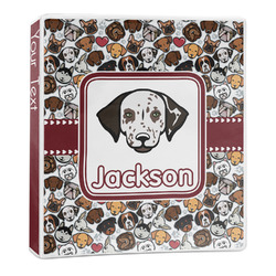 Dog Faces 3-Ring Binder - 1 inch (Personalized)