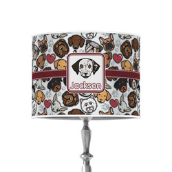 """Dog Faces 8"""" Drum Lamp Shade - Poly-film (Personalized)"""