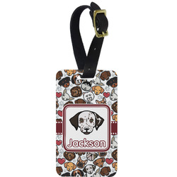 Dog Faces Aluminum Luggage Tag (Personalized)