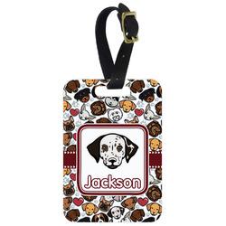 Dog Faces Aluminum Luggage Tag (Personalized)