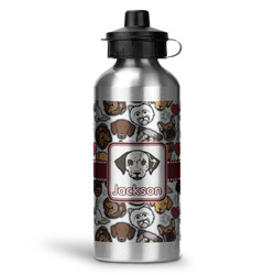 Dog Faces Water Bottle - Aluminum - 20 oz (Personalized)