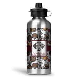 Dog Faces Water Bottle - Aluminum - 20 oz (Personalized)