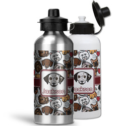 Dog Faces Water Bottles- Aluminum (Personalized)