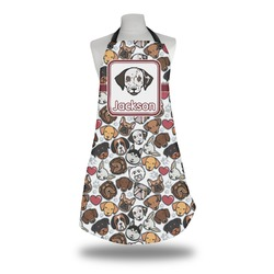 Dog Faces Apron w/ Name or Text