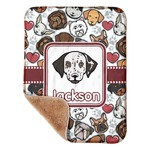 "Dog Faces Sherpa Baby Blanket 30"" x 40"" (Personalized)"