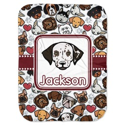 Dog Faces Baby Swaddling Blanket (Personalized)