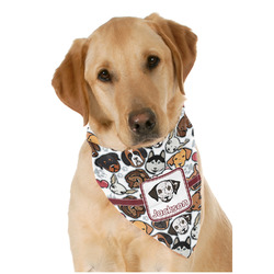 Dog Faces Dog Bandana Scarf w/ Name or Text