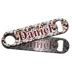 Dog Faces Bar Bottle Opener w/ Name or Text