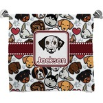 Dog Faces Full Print Bath Towel (Personalized)