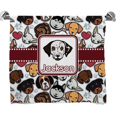 Dog Faces Bath Towel (Personalized)