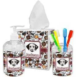 Dog Faces Bathroom Accessories Set (Personalized)