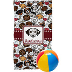 Dog Faces Beach Towel (Personalized)