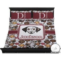 Dog Faces Duvet Cover Set - King (Personalized)