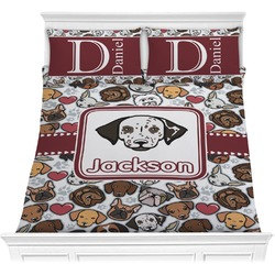 Dog Faces Comforter Set (Personalized)
