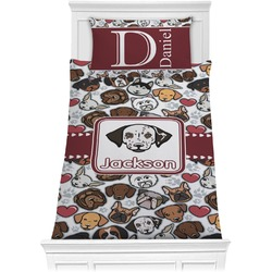 Dog Faces Comforter Set - Twin (Personalized)