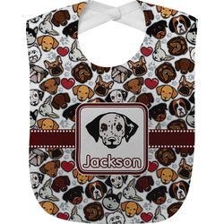 Dog Faces Baby Bib (Personalized)