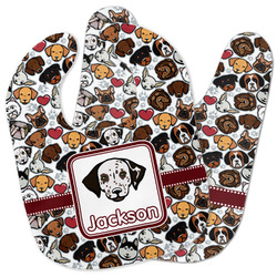 Dog Faces Baby Bib w/ Name or Text