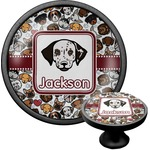Dog Faces Cabinet Knob (Black) (Personalized)