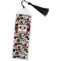 Dog Faces Book Mark w/Tassel (Personalized)