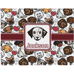 Dog Faces Placemat (Fabric) (Personalized)