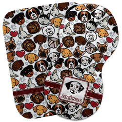 Dog Faces Burp Cloth (Personalized)