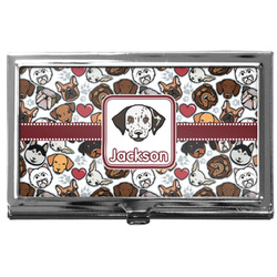 Dog Faces Business Card Case