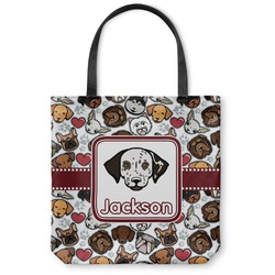 Dog Faces Canvas Tote Bag (Personalized)