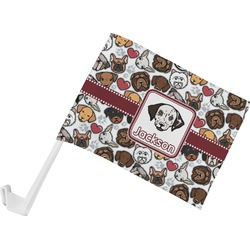 Dog Faces Car Flag (Personalized)