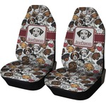 Dog Faces Car Seat Covers (Set of Two) (Personalized)