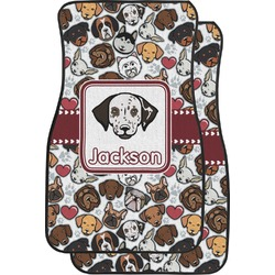 Dog Faces Car Floor Mats (Front Seat) (Personalized)