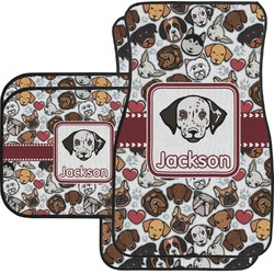 Dog Faces Car Floor Mats (Personalized)