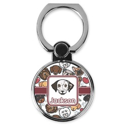 Dog Faces Cell Phone Ring Stand & Holder (Personalized)