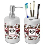 Dog Faces Bathroom Accessories Set (Ceramic) (Personalized)