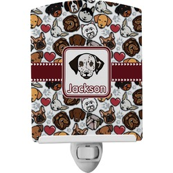 Dog Faces Ceramic Night Light (Personalized)