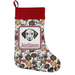 Dog Faces Holiday Stocking w/ Name or Text