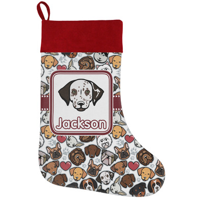Dog Faces Holiday / Christmas Stocking (Personalized)