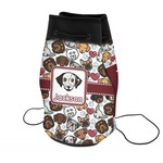 Dog Faces Neoprene Drawstring Backpack (Personalized)