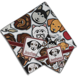 Dog Faces Cloth Napkin w/ Name or Text