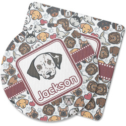 Dog Faces Rubber Backed Coaster (Personalized)