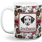 Dog Faces 11 Oz Coffee Mug - White (Personalized)
