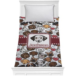 Dog Faces Comforter - Twin (Personalized)