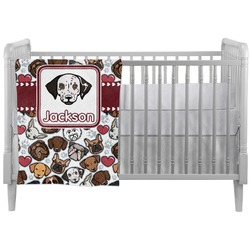 Dog Faces Crib Comforter / Quilt (Personalized)