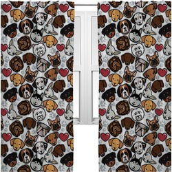 Dog Faces Curtains (2 Panels Per Set) (Personalized)